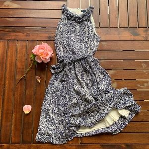 French Connection flowy belted dress